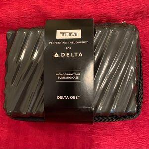 NEW Delta One TUMI Hard Case Amenity Kit In Black